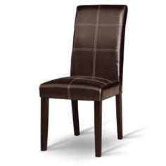 Jedálenská stolička RORY, tmavý orech/ekokoža tmavo hnedá Accent Chairs, Dining Chairs, Furniture, Home Decor, Upholstered Chairs, Homemade Home Decor, Home Furnishings, Dining Chair, Interior Design