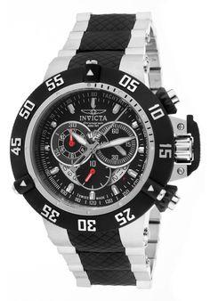 Invicta Men's Subaqua Noma III Chrono Two-Tone SS Black Dial - Watch 4696,    #Invicta,    #4696,    #WatchesDiverQuartz
