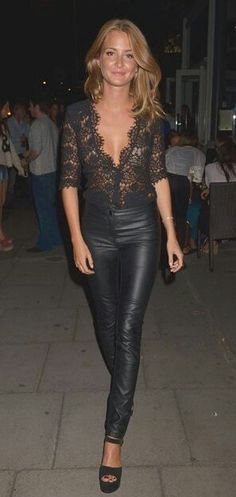 #Leather #Pants #Lace