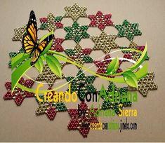 NAVIDAD - CREANDOCONADRIANA Beading Patterns, Seed Beads, Crochet, Christmas, Farmhouse Rugs, Log Projects, Pearls, Light Installation, Bead Patterns