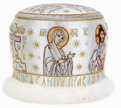 Orthodox Bishop Mitres Embroidered with Icons: https://catalog.obitel-minsk.com/old-russian-style-mitre-zsh-m-30-1-1.html   #CatalogOfGoodDeeds #OrthodoxVestments