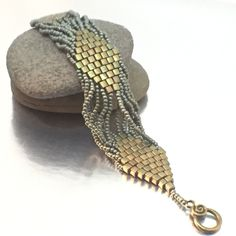 Super cool, with a subtle color palette, this trendy cuff style bracelet is so comfortable to wear, you might never take it off! The bracelet is 7