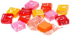 starbursts. I love the purple bag and the blue bag. those are my favorites. careful tho, they are addictive. seriously.