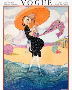 IMPRESSION ART NOUVEAU Vogue Cover de 1919 à par ArtdeLimaginaire