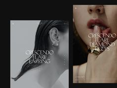 Nomand jewelry by Diana Dubina on Dribbble. Luxurious jewelry branding and stationery. Website Layout, Web Layout, Layout Design, Print Design, Web Design Trends, Website Design Inspiration, Graphic Design Inspiration, Design Graphique, Presentation Design