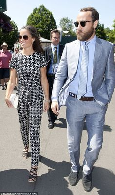 Pippa Middleton arrived with brother James at Wimbledon