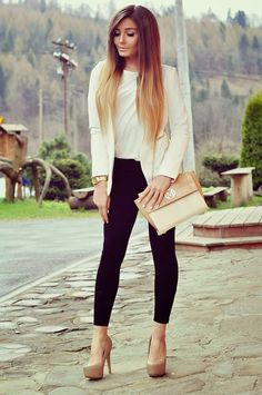 17 Good Look With Blazer Style For Women Work Outfit You can Try ~ Estilo Fashion, Boho Fashion, Womens Fashion, Olivia Cooke, Blazer Fashion, Fashion Outfits, Fashion Boots, Fashion For Petite Women, Bohemian Mode
