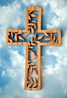 Wooden Vine Cross by TheArtfulTree on Etsy