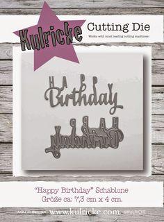 Schriftzüge cutting die Happy Birthday