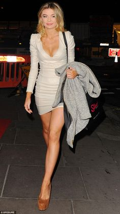 Ripping up the rulebook: MIC star Georgia Toffolo put on a booby and leggy display in a beige bodycon minidress