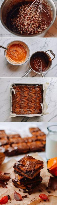 #Swirled #Pumpkin #Brownies recipe by the Woks of Life, Yum!