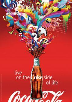 The Coke Side of Life Famous Taglines, Coke, Coca Cola, Serenity, Pop Art, Graphic Design, Projects, David, Ads