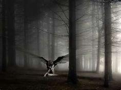 Dark fairy in the woods