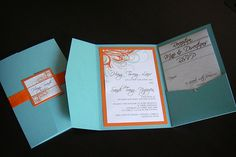 wedding colors orange and blue