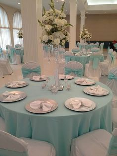 Quinceanera - Simple Elegance in Tiffany Blue & White