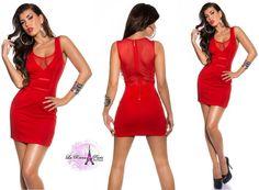 Vestido corto rojo diabólicamente sexy Susej [2]