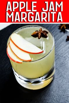 The Apple Margarita combines mezcal, apple cider, apple jam, pear liqueur, triple sec, fresh lime juice, and star anise. The result is a harmonious marriage full of sweet, spice, and smoke. This is the perfect Fall cocktail that you will love to drink all year round! #mezcal #mezcalcocktail #falldrinks #fallcocktails #appleciderdrinks