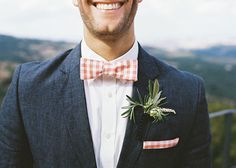 this gingham bow tie is the bee's knees