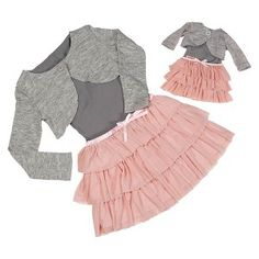 Me & You Matching Outfits Gray Sweater and Pink Skirt - Our Generation™ : Target Ropa American Girl, My American Girl Doll, American Girl Clothes, Girl Doll Clothes, Girl Dolls, Child Doll, Style Clothes, Sewing Clothes, Our Generation Doll Clothes