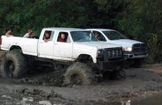 rough around the edges, and there's like ten people in that Ford truck!