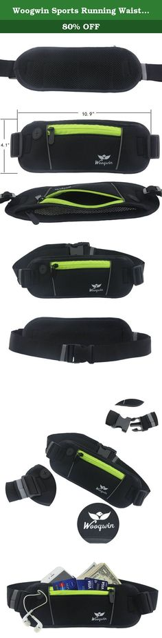 Woogwin Sports Running Waist Pack Runner Belt - Secure Comfortable Travel Money Belt for Iphones + Accessories for Men and Women (Green). ☆ Woogwin running belt gives you a 100% quality guarantee! It can be easy to hold cell phone, keys, bank cards, cash and other valuables when you are running, taking exercise, walking the dog, cycling, hiking, traveling, camping, climbing, going for a walk. ☆ With High-quality waterproof material of Chloroprene Rubber, it can effectively prevent sweat…