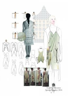 Fashion Portfolio - fashion design drawings; creative process; fashion sketchbook // Caroline Sheraton