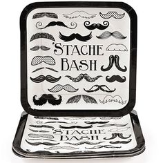 Set the stage for your 'stache bash!ᅠ Whether your celebrating you little man's birthday or are raising a mug to moustache mania, the Moustache Party Paper Square Lunch Plates are a 'stache-tatsic add