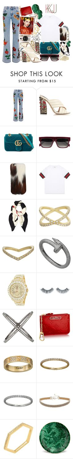 """GUCCI WHO ?"" by official-kj ❤ liked on Polyvore featuring Gucci, CÉLINE, Eva Fehren, Rolex, Napoleon Perdis, Urban Outfitters, Miss Selfridge, Sydney Evan and L'Objet"