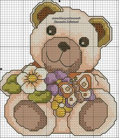 THUN SCHEMI PUNTO CROCE Cross Stitch For Kids, Cross Stitch Baby, Cross Stitch Animals, Cross Stitch Kits, Cross Stitching, Cross Stitch Embroidery, Embroidery Patterns, Minnie Baby, Funny Cross Stitch Patterns