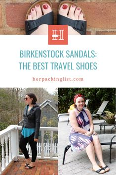 Are you looking for a pair of travel shoes that act as a substitute for flip flops, comfortable enough to wear all day, and chic enough to dress up for a night out? Her Packing List loves Birkenstock's for these reasons, they are so versatile for any travel occasion. Click to purchase the best travel shoe for you. #travelshoeswomen #birkenstocksandals Travel Shoes Women, Her Packing List, Backpack Reviews, Birkenstock Sandals, Hiking Shoes, Types Of Shoes, Strap Heels, Slide Sandals, On Shoes