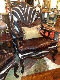 Calamity Janes Trading Co., Boerne, TX  Zebra chair