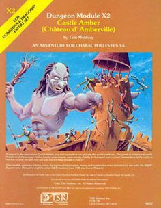 Swords & Stitchery - Old Time Sewing & Table Top Rpg Blog: Retro Review & Commentary On The OD&D Adventure Module- X2 Castle Amber By Tom Moldvay For Your Old School Campaigns