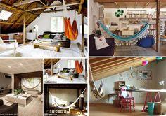 ¡Sácale partido cada rincón de tu casa con las hamacas y sillas colgantes Brasilchic! Visítanos en www.brasilchic.net Indoor Hammock, Loft, Luxury, Furniture, Home Decor, Hanging Chairs, Hammocks, Lounges, Decoration Home