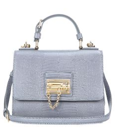 Monica Small grey embossed leather shoulder bag