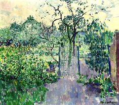 Philibert Cockx - The Garden, 1917. Oil on canvas, 70.5 x 80.5 cm. (27.8 x 31.7 in.). @ Christie's Images, Amsterdam