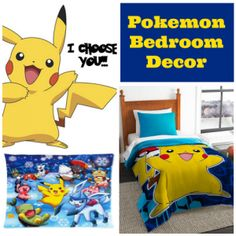 Pokemon Bedroom Décor ideas every kid would enjoy. If they love the Pokémon show, toys and games, then they sure will enjoy these kids bedding idea.