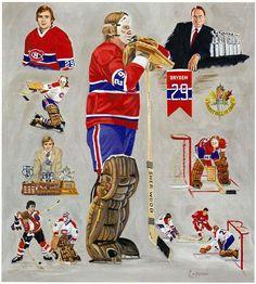 Montreal Canadiens, Ken Dryden, Goalie Mask, National Hockey League, Sports Art, Ice Hockey, Pixel Art, Nhl, Illustration