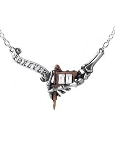 """Forever Inked"" Pendant by Alchemy of England #InkedShop #necklace #pendant #tattoomachine"
