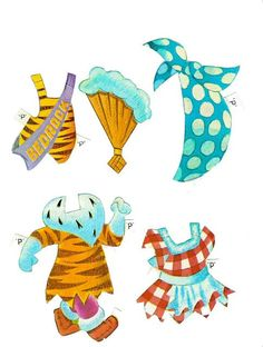 1 Pebbles and Bamm Bamm Paper Dolls page 13 Paper Toys, Paper Crafts, Paper Dolls Clothing, Vintage Paper Dolls, Doll Accessories, Homemade Cards, Dinosaur Stuffed Animal, Kids Rugs, Crafty