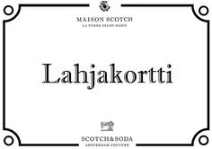 Lahjakortti Scotch & Soda. - Maison Scotch Scotch Soda, Marie, Stage, Math Equations, Sodas, Maison Scotch