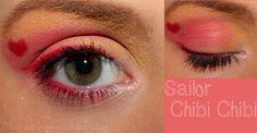 Sailor Chibi Chibi Moon inspired make up by http://plueschnase.blogspot.de/2013/06/schminkaktion-make-up-dreamz-sailor.html
