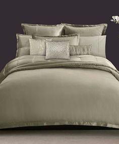 Donna Karan Bedding, Modern Classics Celadon Full/Queen Duvet Cover