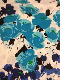 Wonderful 70s fabric with bright colours Unused retro by Inspiria