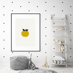 The Apple Print is printed on high-quality paper. Simply add a frame or magnetic sticks.