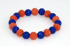 Denver Broncos Shamballa Bracelet by TeamWraps on Etsy