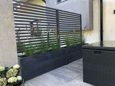 Privacy Planter, Garden Privacy, Privacy Screen Outdoor, Backyard Privacy, Garden Path, Hot Tub Privacy, Garden Borders, Easy Garden, Herb Garden