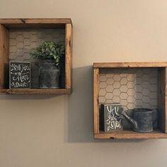 Country Kitchen Ideas Farmhouse Style, Modern Farmhouse Decor, Country Decor, Rustic Wall Decor, Ottoman Decor, Ottoman Tray, Wire Shelving, Wall Shelves, Shelf