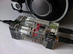 A homemade headphone amp that's a work of art.