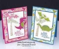 Dino Days; Stampin' Up! #1 Demonstrator Pootles – Dinoroar Die Cut Card Tutorial