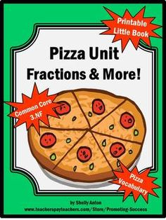 Pizza Math Fractions Activities